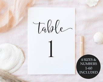 Table Numbers Printable, Table Numbers, Wedding Table Numbers, Printable Table Numbers, Wedding Table Numbers Printable, Instant Download
