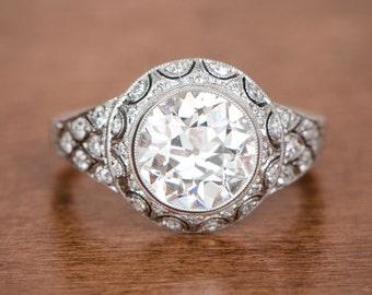 2.45ct Edwardian Style Engagement Ring