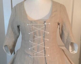 Custom Colonial/Georgian Dress & Petticoat Revolutionary War Patriot 1776