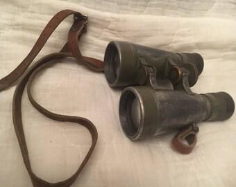 WW1 German Fernglas 08 Binoculars with Leather Strap