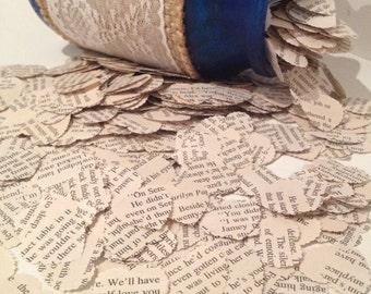 Vintage Love Novels Heart Wedding Confetti- Vintage Shabby Chic - wedding table decoration, confetti