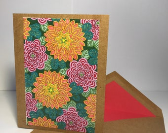 Zinnias & Marigolds Notecard