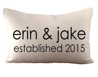 Custom Personalized Cushion Cover - Choose Your Text, Font, Font Colour & Fabric - 12x18