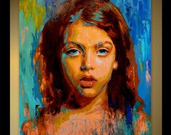 Oil portrait, oil painting, custom oil painting, photo to painting, custom portrait, portrait commission, painting on canvas, child portrait