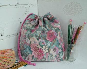 Knitting bag, Sock project bag, Knitting bag, Yarn project bag, Knitters gift , Crochet project bag, Knitting project bag