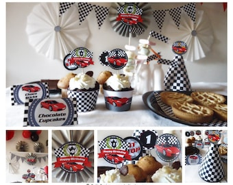Race Car Birthday Party Printables -INSTANT DOWNLOAD- Printbale PDF
