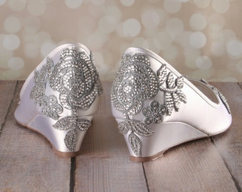 CUSTOM CONSULTATION: Design Your Own Wedding Shoes, Crystal Wedding Shoes, Bling Wedding Shoes, Ivory Wedding Shoes, Wedding Wedges, Wedges