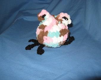 crochet stuffed toy spider, plush thick yarn handmade NEW USA