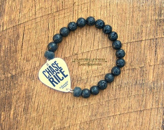 Your Guitar Pick Made Into a Bracelet with Black Lava Rock Beads country music fest lover rocker girl style concert fashion festival ready