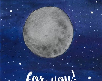 I'm Over The Moon For You Gift Card by Chelsea-Lee Elliott