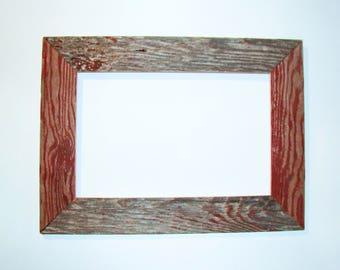 "Custom Barn Wood Frame - 30"" x 20"" x 4"", Old BarnWood, Recycled, RePurposed, UpCycled, Reclaimed, Vintage Farmhouse Wood Frames!"