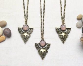 Tribal Pendant Necklace, Boho Gypsy Chain Necklace m13
