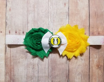 university of Oregon headband-Oregon headband-oregon Ducks girl-girl oregon-Oregon ducks stocking stuffer/baby oregon/newborn oregon