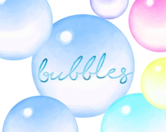 Bubble clip art, bubble clip art set