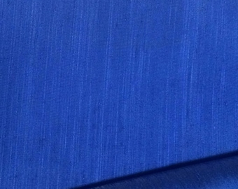 Blue Silk Fabric / Silk Fabric / Vintage Silk Fabric / Blue Silk Fabric