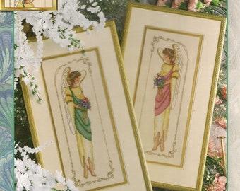 Cross Stitch Patterns Leaflet,Elegant Angels,Angel Cross Stitch,Modern Angels,Vintage Angels,Enchanting Angels,Cherished Angels