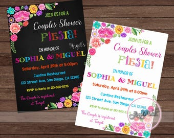 Fiesta Couples Shower Invitation, Fiesta Bridal Shower, Fiesta Mexicana Couples Shower Invitation, Mexican Fiesta Invitation, Digital File