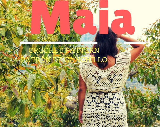 Featured listing image: Maia Tunic Crochet Pattern