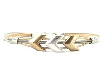Arrow Motif guitar string bracelet