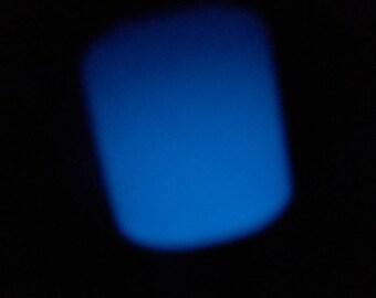 blue glow-in-the-dark bottle pendant