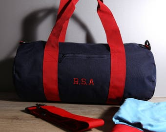 Personalised Gym Bag With Shoulder Strap, Embroider Your Initials, Personalised Gift, Sports Bag, Gym Apparel, Exercise, Sport, Fitness