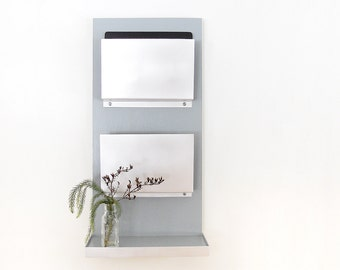 IPAD FILE ORGANIZER: with Shelf Perfect for iPad and Android Tablets or File Folders. Home Office Organization with Modern Design.