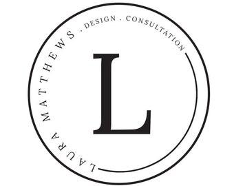 Pre-made Logo Design   'Laura'   Minimal Logo   Photography Logo   Blog Logo   Business Branding   Branding Design   Custom logo   Watermark