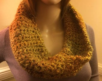 Golden cowl scarf