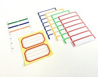 Blank Label Stickers, Planner, Travelers Notebook, Journal, Project Life,  Mini Album, Scrapbooking,  Label Stickers, Planner, Organization