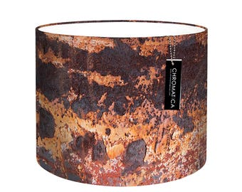 Lamp Shade - Oxide. Photography lampshade, industrial, rust, orange, brown.