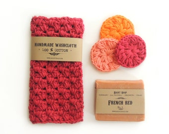 Birthday Gift Women Gifts Mothers Gift Set for Her Gift for Wife Birthday Gift Mom Soap Washcloth