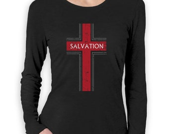 Salvation Christian Fashion Gifts Women Long Sleeve T-Shirt