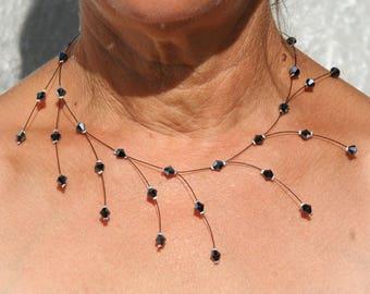 Black wedding necklace