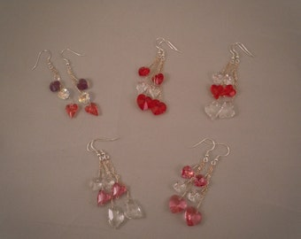 Valentine Earrings: Swarovski Crystal & Sterling Silver