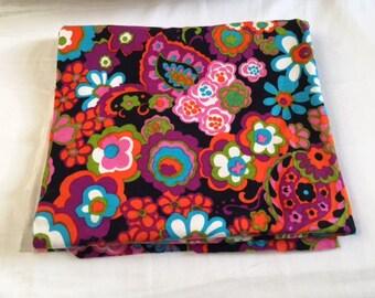 Vintage Retro Floral Cotton Screen Print Fabric