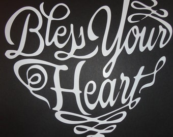Bless your heart car decal