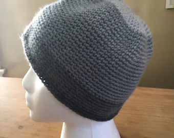 Layers of Grey Crochet Hat