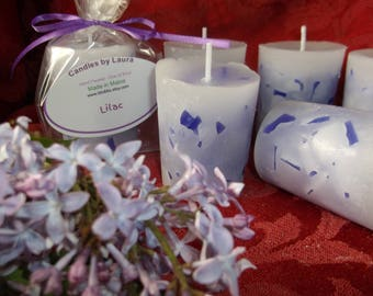 6 Lilac scented large votives