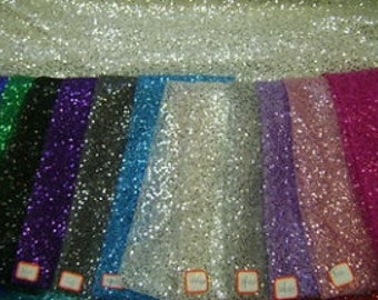 Sequins fabric on polyester mesh