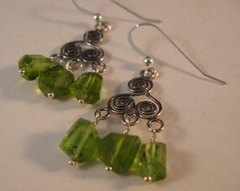 Gemstone Chandelier Earrings,gemstone earrings,drop earrings,dangle earrings,silver earrings,peridot earrings,chandelier earrings,birthstone