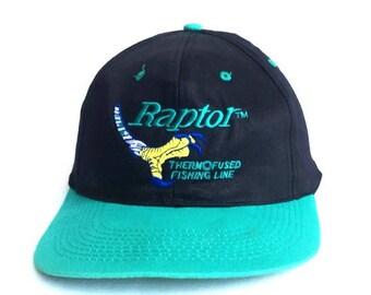 Vintage 90s Raptor Fishing Dad Hat