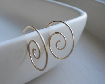 Twirl - 14k gold fill Spiral Ear Wires
