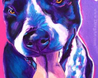 German Shorthaired Pointer, Pet Portrait, DawgArt, Dog Art, German Shorthaired Pointer Art, Colorful Pet Portrait, Art Prints, Dog, Art