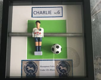 Personalised handcrafted table football wall art