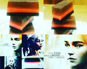 Daenerys Targaryen   The Blood of the Dragons Game of Thrones Inspired Sensual organic handmade soap DragonsBlood, Snapdragon dragonsbreath