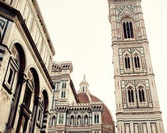 florence italy photography, architecture, church, religous decor, travel decor, europe art, piazza duomo, Giotto's Belltower F08