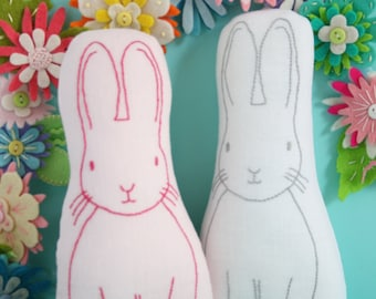 Jingle Bunny: bunny plush pattern, bunny embroidery pdf,bunny sewing pdf, softie pdf pattern, bunny toy pdf, bunny pattern,stuffed toy pdf,