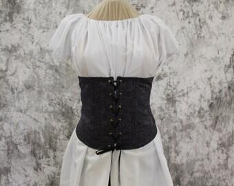 Navy Blue Renaissance Costume-Halloween Costume-Medieval Dress-LARP-Ren Fair-Steampunk-SCA-Adult Costume-Medieval Clothing-Fantasy-Item #254