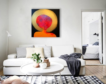 art painting by Alex Senchenko / large painting on canvas / oil painting / abstract painting / painting / large wall art / original painting