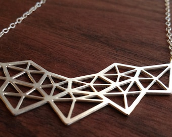 Fascial Matrix, Necklace in Silver